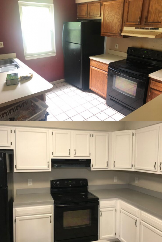 Kent, OH Rental Property Kitchen Before and After Update