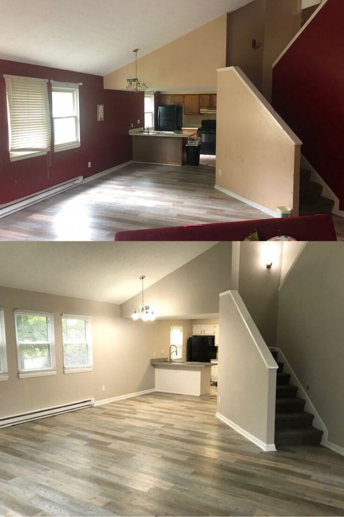Kent, OH Rental Property Paint Before and After Update